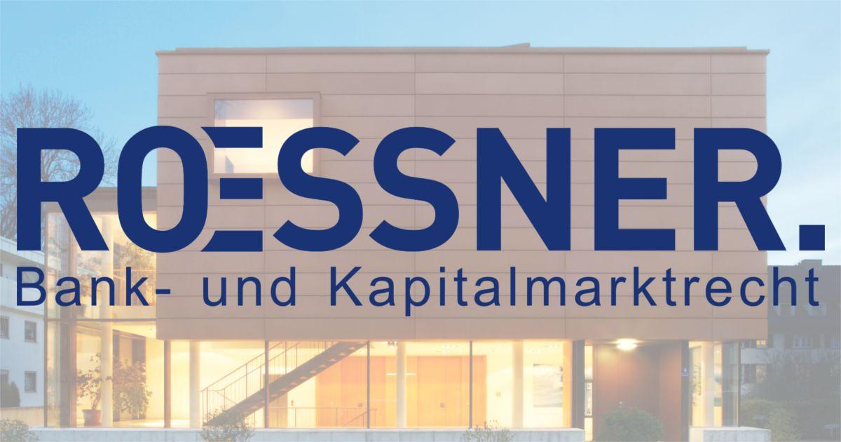 Bundestagbeschluss vom 14.06.18 zur Musterfeststellungsklage   ROESSNER. Bank- und Kapitalmarktrecht